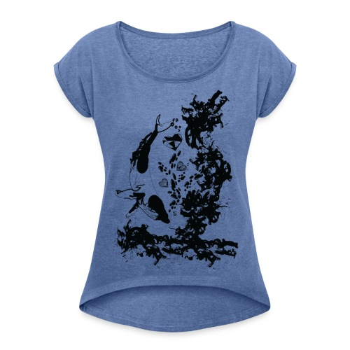 The dreamer Women's T-shirt with rolled up sleeves - Women's T-shirt with rolled up sleeves