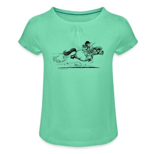 PonySprint Thelwell - Mädchen-T-Shirt mit Raffungen