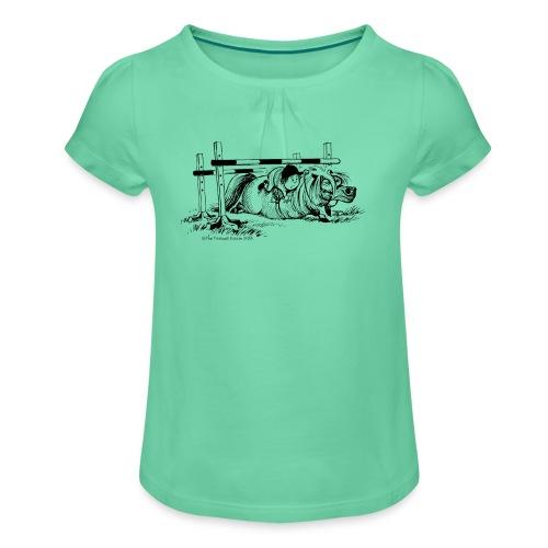 PonySturz - Mädchen-T-Shirt mit Raffungen