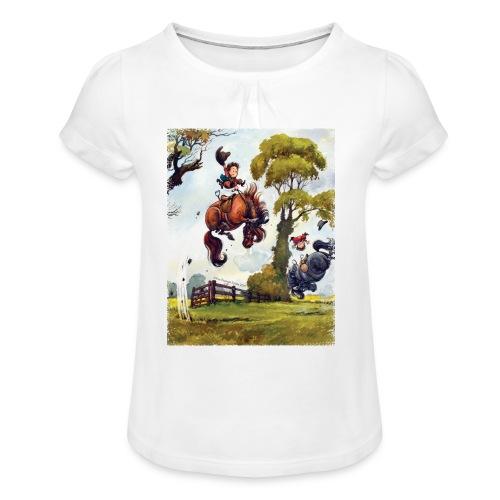 Rodeo fransig - Mädchen-T-Shirt mit Raffungen