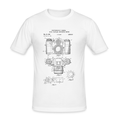 Fotografie Retro - Männer Slim Fit T-Shirt