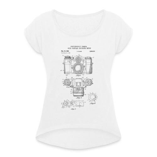 Fotografie Retro - Frauen T-Shirt mit gerollten Ärmeln