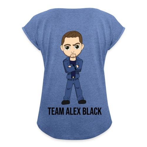 Tshirt Femme Team Alex Black - Edition Auriane - T-shirt à manches retroussées Femme