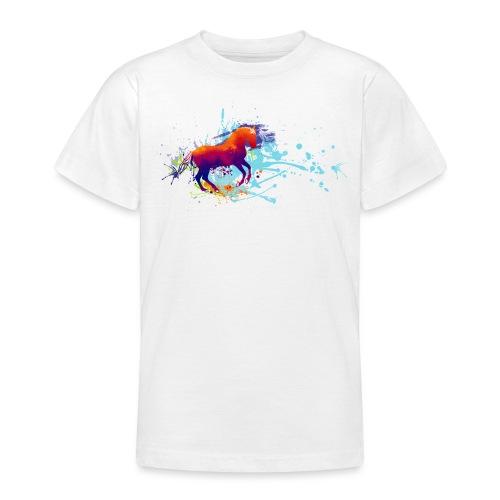 Galopp bunt - Shirt Teenies - Teenager T-Shirt