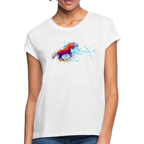 Galopp bunt - Shirt weit - Frauen Oversize T-Shirt