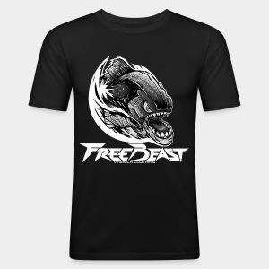 VINRECH CLOTHING - FREEBEAST - PIRANHA SILVER - T-Shirt Homme - Tee shirt près du corps Homme