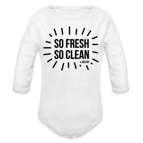 Milkin' - So Fresh So Clean - Organic Longsleeve Baby Bodysuit