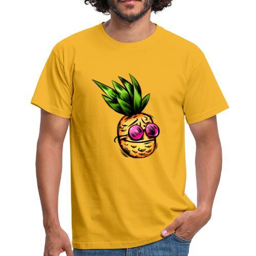 Lustige Ananas Cartoon - Männer T-Shirt