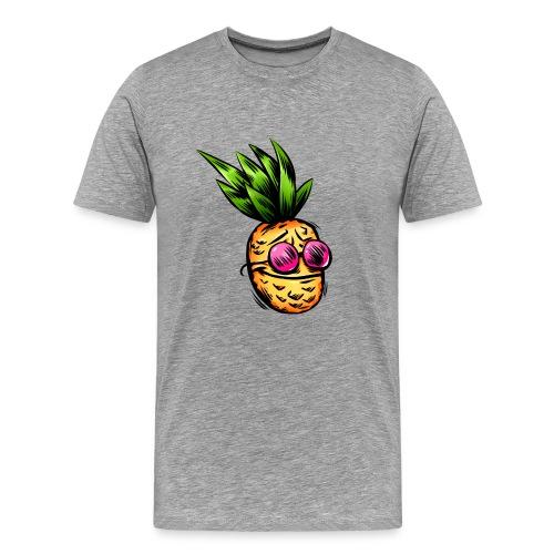 Lustige Ananas Cartoon - Männer Premium T-Shirt