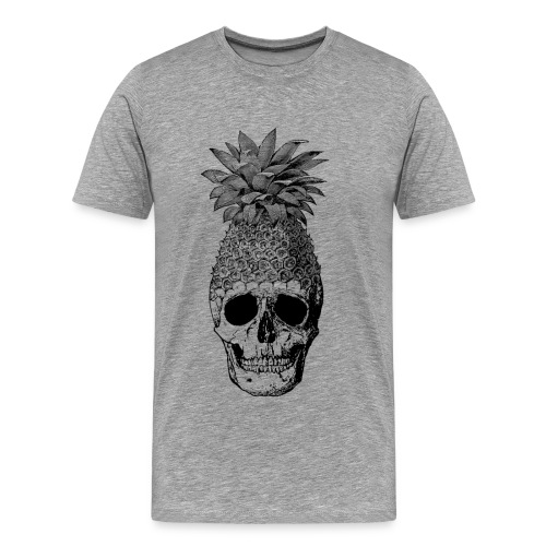 Pineapplehead (Black&White) - Men's Premium T-Shirt