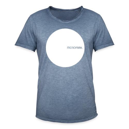 MoPa Vintage Dot Blue - Männer Vintage T-Shirt