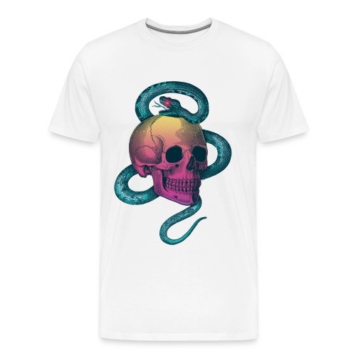 Skull with snake - Men's Premium T-Shirt