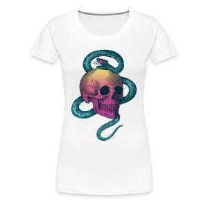 Skull with snake - Women's Premium T-Shirt