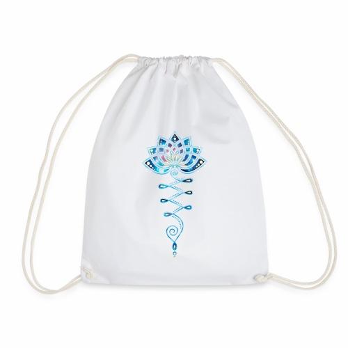 Yoga-lotus-life-flower-bag - Drawstring Bag