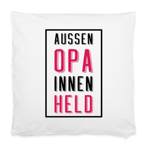 Opa Helden T-Shirt - Geschenkidee für Großvater - Kissenbezug 40 x 40 cm