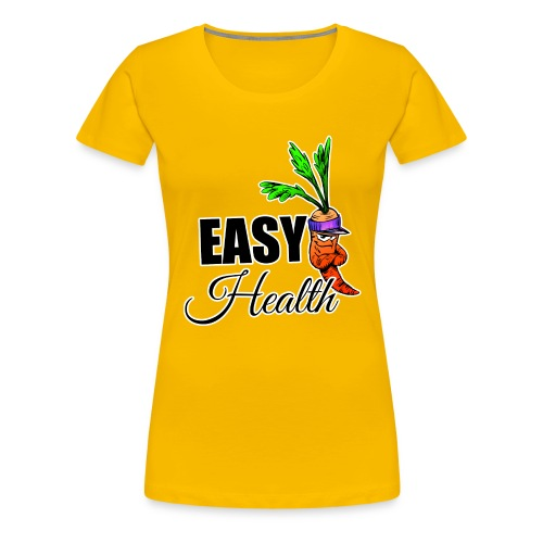 Easy Health Cartoon - Frauen Premium T-Shirt