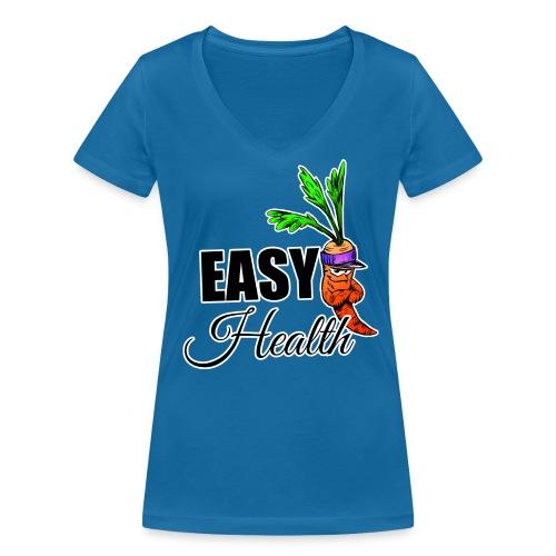 Easy Health Cartoon - Frauen Bio-T-Shirt mit V-Ausschnitt von Stanley & Stella