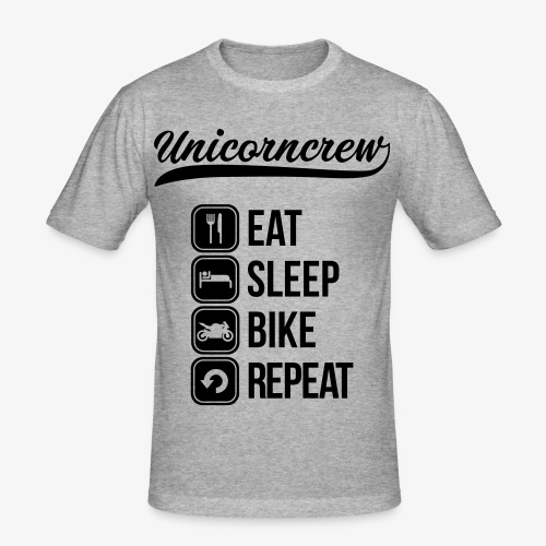 Eat Sleep Bike Reapeat Slimfit - Männer Slim Fit T-Shirt