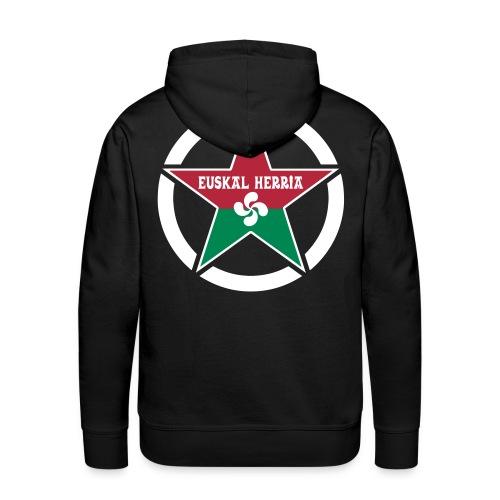 Euskal Herria Star - Sweat-shirt à capuche Premium pour hommes