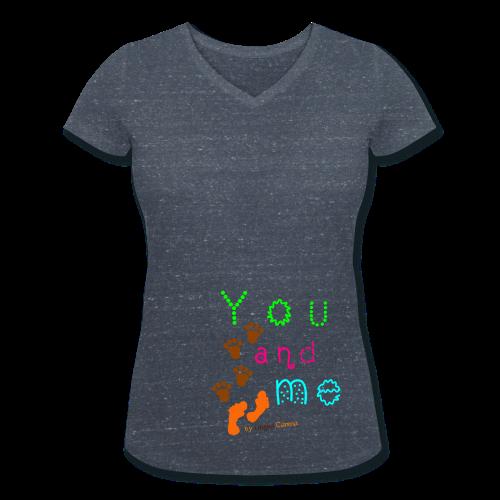 Frauen T-Shirt You&Me  - Frauen Bio-T-Shirt mit V-Ausschnitt von Stanley & Stella