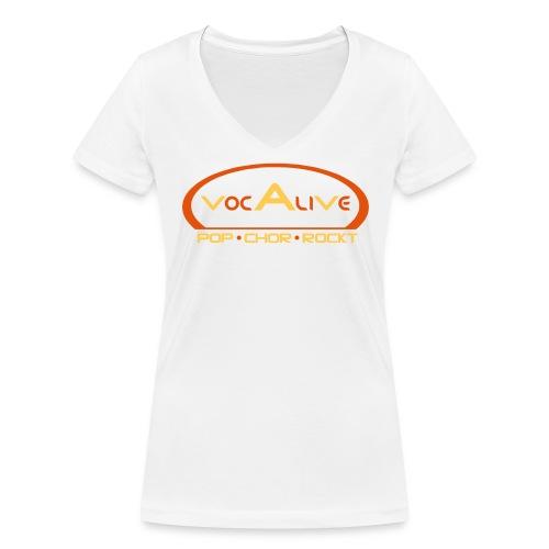 Frauen Bio T-Shirt mit V-Ausschnitt Weiß - Frauen Bio-T-Shirt mit V-Ausschnitt von Stanley & Stella