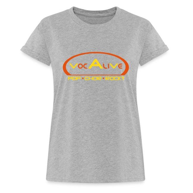 Frauen Oversize T-Shirt Grau