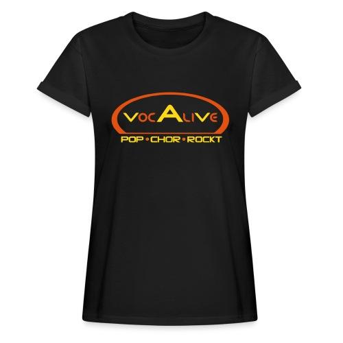 Frauen Oversize T-Shirt Schwarz - Frauen Oversize T-Shirt