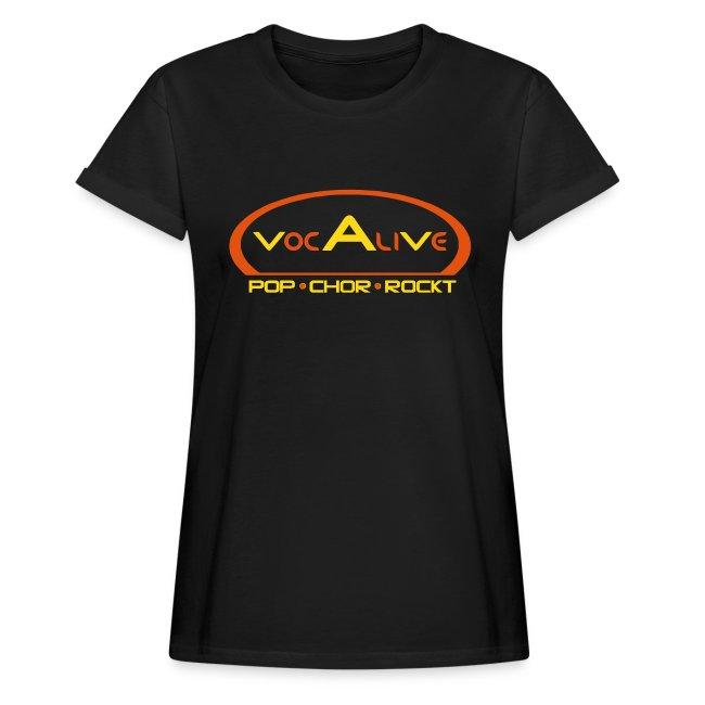 Frauen Oversize T-Shirt Schwarz