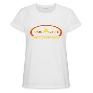 Frauen Oversize T-Shirt Weiß - Frauen Oversize T-Shirt