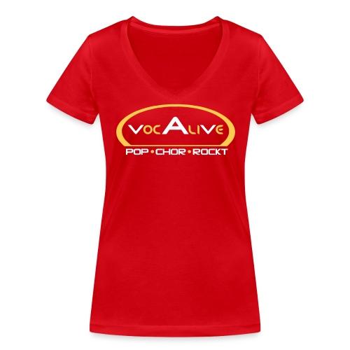 Frauen Bio T-Shirt mit V-Ausschnitt Rot - Frauen Bio-T-Shirt mit V-Ausschnitt von Stanley & Stella