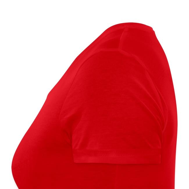 Frauen Bio T-Shirt mit V-Ausschnitt Rot