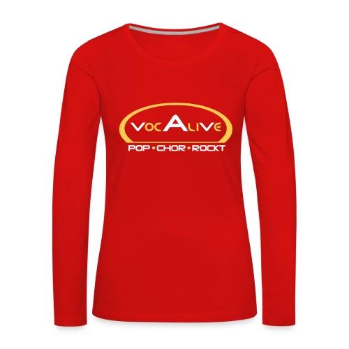 Frauen Premium Langarmshirt Rot - Frauen Premium Langarmshirt