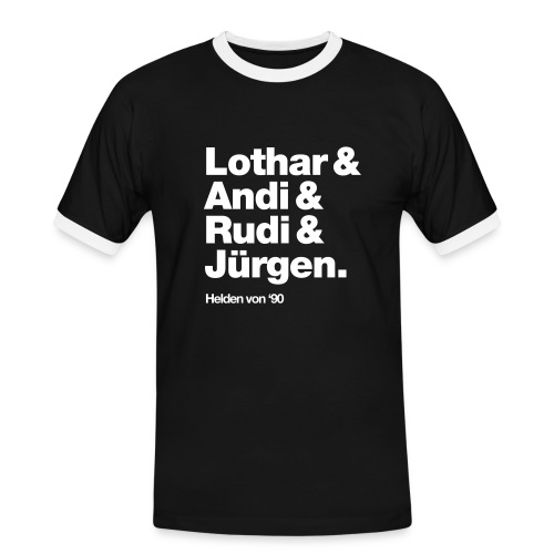 WM-Helden #90 Retro Weltmeister Fantrikot - Männer Kontrast-T-Shirt