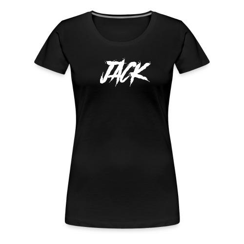 Jack | Damen - weiß auf schwarz - Frauen Premium T-Shirt
