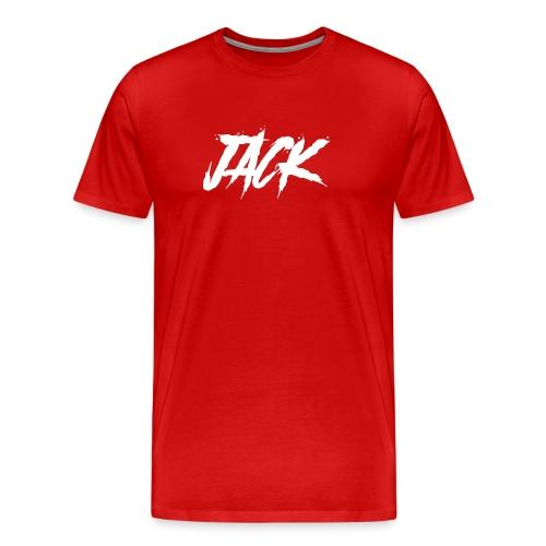 Jack | Herren - weiß auf rot - Männer Premium T-Shirt