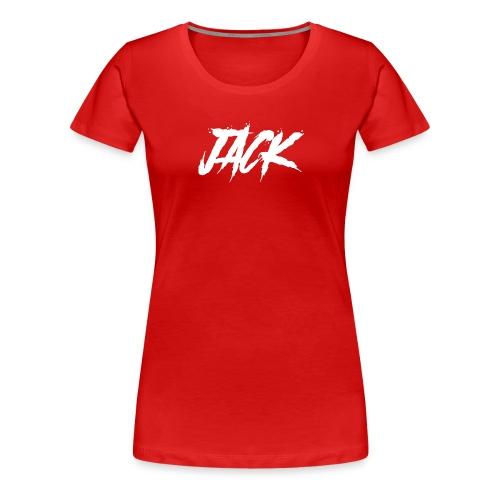 Jack | Damen - weiß auf rot - Frauen Premium T-Shirt