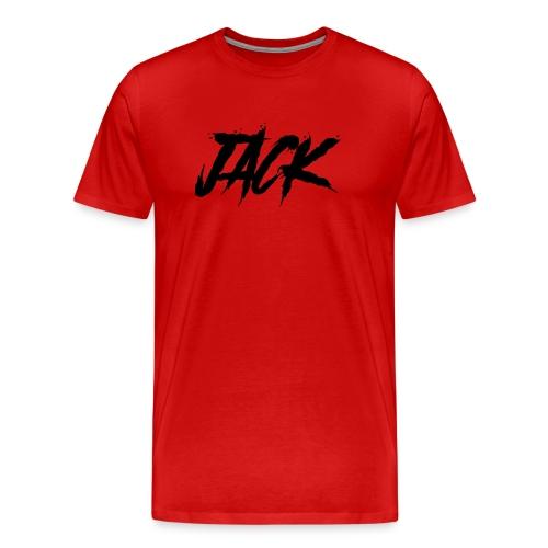 Jack | Herren - schwarz auf rot - Männer Premium T-Shirt