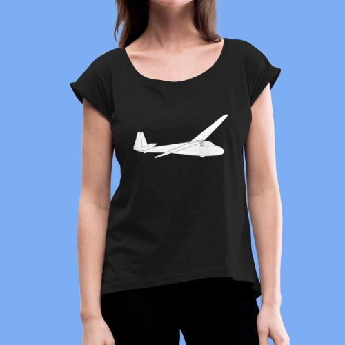 Segelflugzeug Scheibe SF26 - Women's T-Shirt with rolled up sleeves