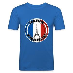 France tour Eiffel - Tee shirt près du corps Homme