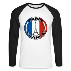 France tour Eiffel - T-shirt baseball manches longues Homme