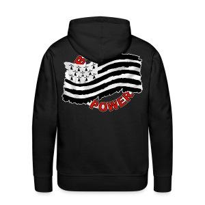 Breizh power - Grunge style - Sweat-shirt à capuche Premium pour hommes