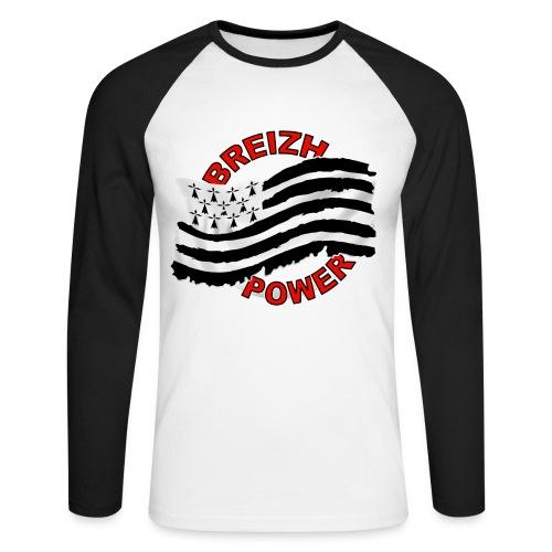 Breizh power - Grunge style - T-shirt baseball manches longues Homme