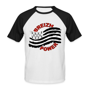 Breizh power - Grunge style - T-shirt baseball manches courtes Homme