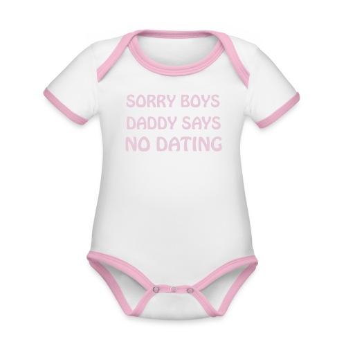 BABYROMPER - Baby contrasterend bio-rompertje met korte mouwen