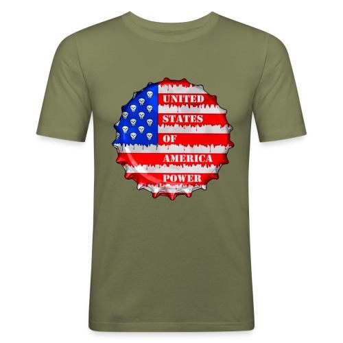 USA Power - T-shirt près du corps Homme