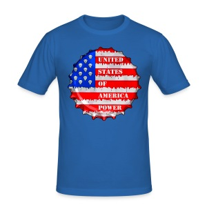 USA Power - Tee shirt près du corps Homme