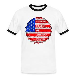 USA Power - T-shirt contrasté Homme