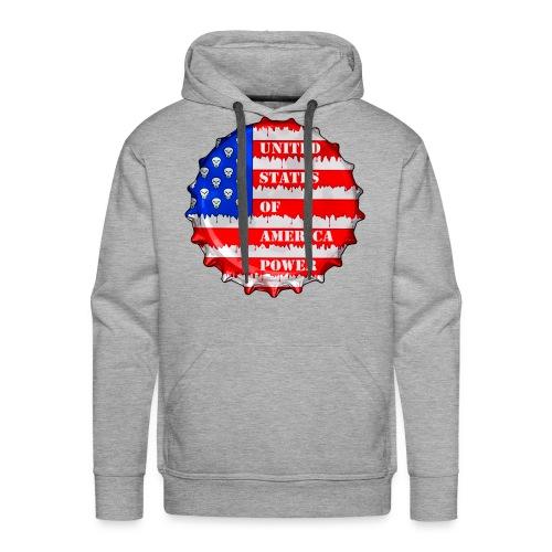USA Power - Sweat-shirt à capuche Premium pour hommes