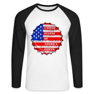 USA Power - T-shirt baseball manches longues Homme
