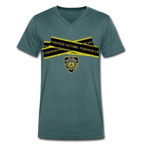 T-shirt Homme Police Line Fashion Victim - T-shirt bio col V Stanley & Stella Homme